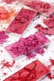 Kosmetische poederborstel Stock Foto's