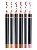 Kosmetische potloden Stock Foto