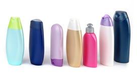 Kosmetische producten in een rij Royalty-vrije Stock Afbeelding