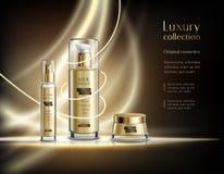 Kosmetische Produkt-realistisches Anzeigen-Plakat stock abbildung