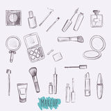 Kosmetische Produkte eingestellt Lizenzfreies Stockfoto
