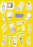 Kosmetische Produkte eingestellt Lizenzfreies Stockbild