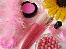 Kosmetische reeks royalty-vrije stock afbeelding