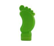 Kosmetische room in groene plastic fles stock afbeeldingen