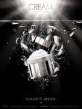 Kosmetische roomadvertentie vector illustratie