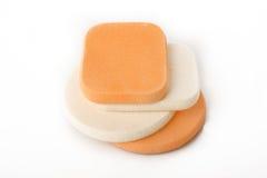 Kosmetische sponsen Stock Afbeelding