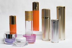 Kosmetische Voorwerpen royalty-vrije stock afbeeldingen