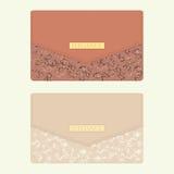 Kosmetische zak in beige en bruine kleuren Royalty-vrije Stock Foto