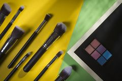 Kosmetischer Bürsten-Satz lizenzfreies stockfoto