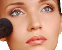 Kosmetischer Pinsel Stockfotografie