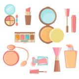 Kosmetisches Ikonenset Lizenzfreies Stockfoto