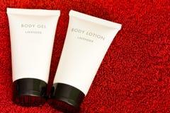Kosmetisches Karosseriengel und -lotion Stockbild