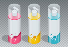 Kosmetisches Markenkonzept der Körperpflegeberufs-Reihe Rohrgel, Seifenflasche, Shampooverpackung Körperpflegevektor Stockfotografie