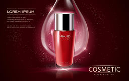 Kosmetisk annonsmall vektor illustrationer