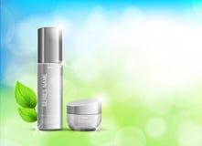 Kosmetisk annonsmall för skönhet vektor illustrationer