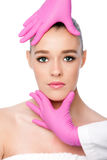 Kosmetisk behandling för skincarebrunnsortskönhet Arkivbilder