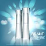 Kosmetisk designmall Arkivbild