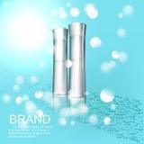 Kosmetisk designmall Arkivfoton