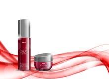 Kosmetisk designmall för skönhet stock illustrationer