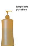 Kosmetisk flaska som isoleras på vit Royaltyfri Fotografi