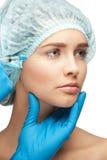 Kosmetisk injektion av botox Royaltyfria Bilder