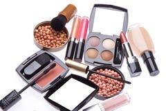 kosmetisk makeupproduktset Arkivbild