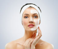 kosmetisk maskering Arkivbilder