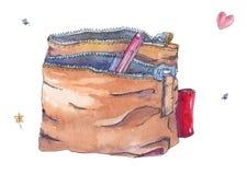 Kosmetisk påse stock illustrationer