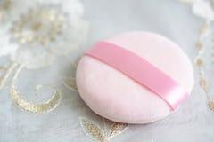 Kosmetisk puff royaltyfri foto