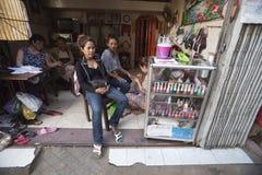 Kosmetisk salong i Phmom Penh Arkivfoto
