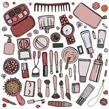 Kosmetisk tillbehör 2 stock illustrationer