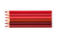 kosmetiska blyertspennor royaltyfri fotografi