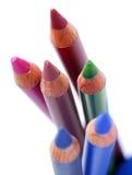 kosmetiska blyertspennor Royaltyfri Bild