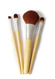 Kosmetiska borstar Arkivfoto