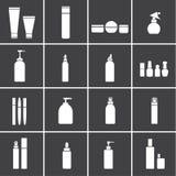 Kosmetiska flaskasymboler vektor illustrationer