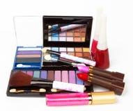 kosmetiska produkter Fotografering för Bildbyråer