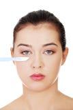 Kosmetiskt kirurgibegrepp. Fotografering för Bildbyråer