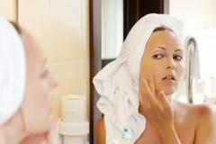 kosmetiskt smink Fotografering för Bildbyråer