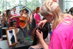 kosmetologii powystawowy kosmetikexpo profesjonalista v Fotografia Stock