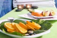 kosmetyczna pomarańczowa zdroju terapii strefa Zdjęcia Royalty Free