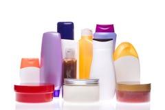 Kosmetyczne butelki Zdjęcia Royalty Free