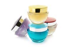 Kosmetyczne śmietanki Fotografia Stock