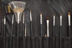 Kosmetyczni bruhes Obrazy Royalty Free