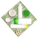 Kosmetyczni produkty dla ciało opieki Fotografia Stock
