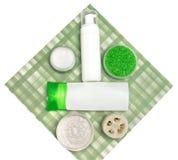Kosmetyczni produkty dla ciało opieki Obrazy Royalty Free