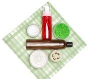 Kosmetyczni produkty dla ciało opieki Zdjęcie Stock