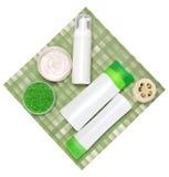 Kosmetyczni produkty dla ciało opieki Zdjęcia Royalty Free