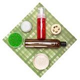 Kosmetyczni produkty dla ciało opieki Obrazy Stock