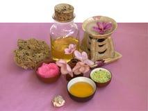 Kosmetyczni treatmebts set Zdjęcia Royalty Free
