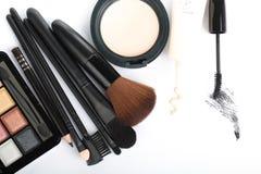 Kosmetyczny krzak ustawiający dla makeup twój twarz Zdjęcie Stock